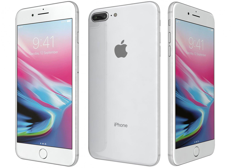 Apple Iphone  Plus Silver Gb